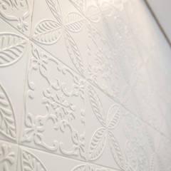 Apto 92m²: Paredes  por Andressa Saavedra Projetos e Detalhes