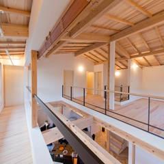 2階南面に配したインナーバルコニー: 合同会社negla設計室が手掛けたテラス・ベランダです。