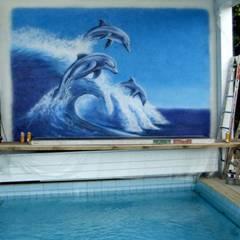 Pool Wandgestaltung Detail : ausgefallener Pool von Lizard Design