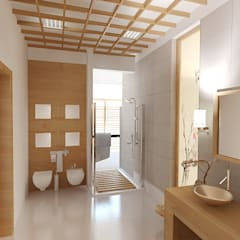 Dom Kędzierzyn-Koźle Azjatycka łazienka od INTUS DeSiGn Azjatycki