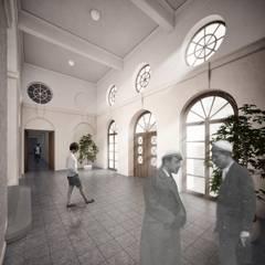 AKADEMIK HANKA: styl , w kategorii Kliniki zaprojektowany przez PROSTO ARCHITEKCI