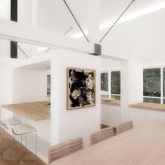 Casa - Taller : Comedores de estilo  por RRA Arquitectura,
