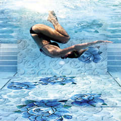 Sicis - Zwembad : mediterraan Zwembad door Spadon Agenturen