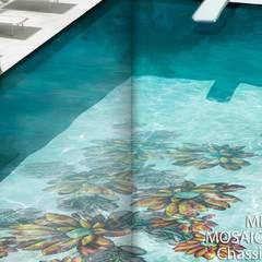 Sicis - Zwembad: mediterraan Zwembad door Spadon Agenturen