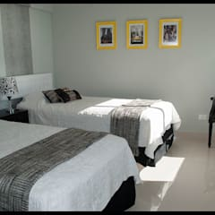 Tercer dormitorio - Personal y ECLECTICO: Dormitorios de estilo  por Diseñadora Lucia Casanova