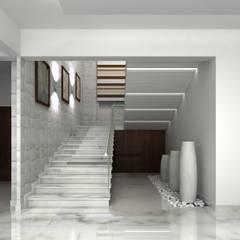 RESIDENTIAL INTERIORS AT TRICHY. (www.depanache.in):  Corridor & hallway by De Panache  - Interior Architects