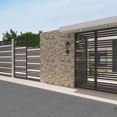 Diseño de fachada residencia unifamiliar: Casas de estilo minimalista de Arte 5 Remodelaciones