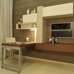 Shahajanand Arista: modern Media room by ARK Reza Kabul Architects Pvt. Ltd.