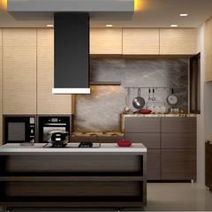 مطبخ تنفيذ Royal Rising Interiors