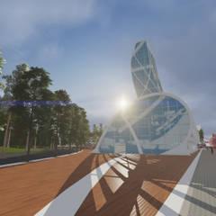 CN 1 : Espacios comerciales de estilo  por Arquitecto Pedro Ojeda, Moderno Vidrio