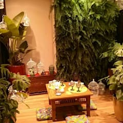 Ambiente Bali- Mostra Mesas Decoradas BiaDecor : Jardins  por Eneida Lima Paisagismo,Asiático