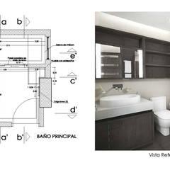 Diseño de Interiores de Apto. Residencial : Baños de estilo  por 5D Proyectos, Moderno Cerámico
