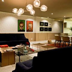 Eclectic style living room by MAAD arquitectura y diseño Eclectic