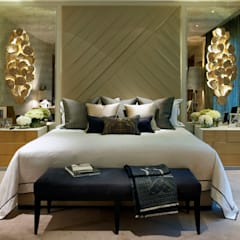 Chelsea Apartment :  Bedroom by LINLEY London