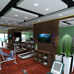 Interiors : modern Gym by riiTiH Architects