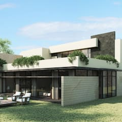 Casa Meseta : Casas de estilo  por Grow Arquitectos