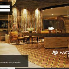 HOTEL MOVICH BURO 51 BARRANQUILLA, COLOMBIA: Hoteles de estilo  por CHIMI