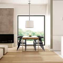 POD LIPAMI: styl , w kategorii Jadalnia zaprojektowany przez KAEL Architekci