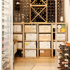 Glass House:  Wine cellar by Martin Gardner Photography