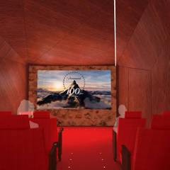 Gîte de prestige / Salle de cinéma: Hôtels de style  par Hanuman Architecture