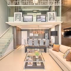 Apartamento - pé direito duplo: Salas de jantar  por Spengler Decor