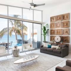 CASA MRE: Salas de estilo  por Imativa Arquitectos