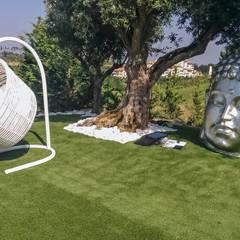 EXTERIOR BELAS: Jardins  por GRAÇA Decoração de Interiores,Moderno