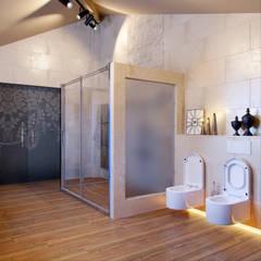 Загородный дом в поселке Румболово : Ванные комнаты в . Автор – Be In Art