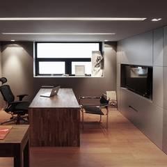 [OFFICE] WA-Archi: KD Panels의  서재 & 사무실
