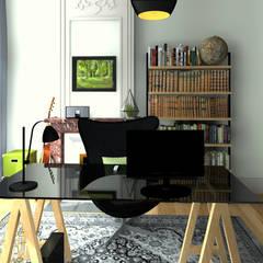 Bureau dans la grande pièce: Bureau de style de style Industriel par MJ Intérieurs
