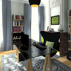 Grand bureau: Bureau de style de style Industriel par MJ Intérieurs