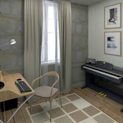 Bureau dans la petite pièce: Bureau de style de style Industriel par MJ Intérieurs