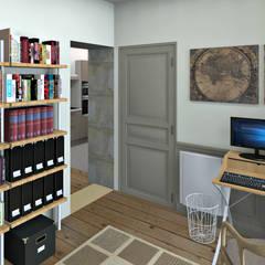 Petit bureau: Bureau de style de style Industriel par MJ Intérieurs