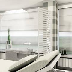 SALON KOSMETYCZNY opcja 1: styl , w kategorii Kliniki zaprojektowany przez IDEALNIE Pracownia Projektowa