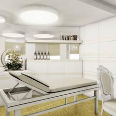 SALON KOSMETYCZNY opcja 2: styl , w kategorii Kliniki zaprojektowany przez IDEALNIE Pracownia Projektowa