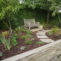 A Modern Garden with Traditional Materials:  Garden by Yorkshire Gardens