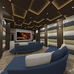 Prabhakar: modern Media room by single pencil architects & interior designers