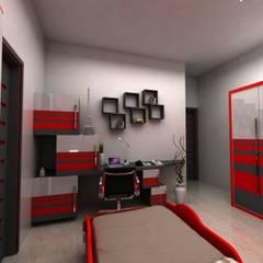 Bedroom designs:  Bedroom by single pencil architects & interior designers