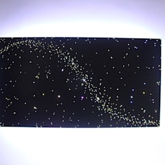 Design ideas Fiber optic light LED star lights ceiling panels art stars on ceiling bathroom bedroom kitchen: mediterrane Eetkamer door MyCosmos