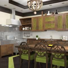 Дом в вьетнамском стиле: Кухни в . Автор – Студия дизайна 'New Art'