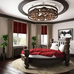 Дом в вьетнамском стиле: Спальни в . Автор – Студия дизайна 'New Art', Азиатский