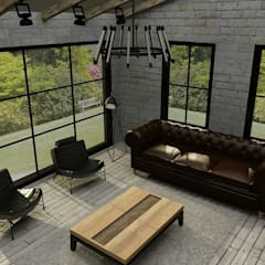 Update İç Mimarlık – Emre & Cansu Evi: endüstriyel tarz tarz Oturma Odası