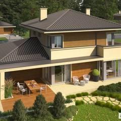 PROJEKT DOMU RODRIGO III G1 : styl , w kategorii Domy zaprojektowany przez Pracownia Projektowa ARCHIPELAG