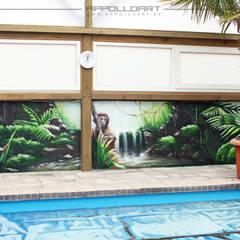 Innenraumgestaltung mit handgemalten Bildern:  Spa von  Wandgestaltung Graffiti Airbrush von Appolloart