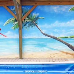 Schwimmbad Pool Wellnessbereich Karibik:  Pool von  Wandgestaltung Graffiti Airbrush von Appolloart