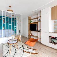 PROJET VOLTAIRE, Agence Transition Interior Design, Architectes: Carla Lopez et Margaux Meza: Salon de style de style Moderne par Transition Interior Design