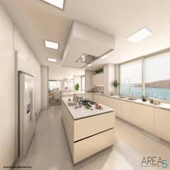 Proyecto de viviendas de lujo - Morano Mare: Cocinas de estilo  por Area5 arquitectura SAS, Moderno