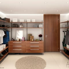 Walk in closet de estilo  por Area5 arquitectura SAS