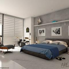 Proyecto de viviendas de lujo - Morano Mare: Habitaciones de estilo  por Area5 arquitectura SAS