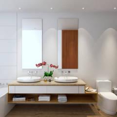 Morano Mare - Baño principal: Baños de estilo  por Area5 arquitectura SAS